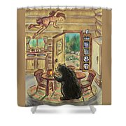 Bear In The Kitchen - Dream Series 7 Shower Curtain