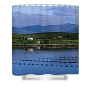 Beara, Co Cork, Ireland Mussel Farm Shower Curtain