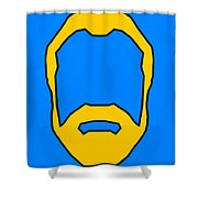 Beard Graphic  Shower Curtain