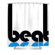 Beat Poster Shower Curtain