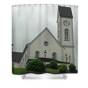 Beautiful Church In The Swiss City Of Lucerne Shower Curtain