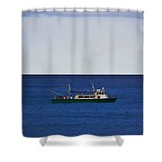 Beautiful Day For Shrimping Shower Curtain