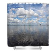 Beautiful Day In Tampa Shower Curtain