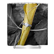 Beautiful Engagement Shower Curtain