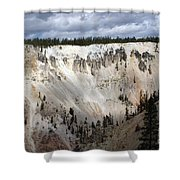 Beautiful Lighting On The Grand Canyon In Yellowstone Shower Curtain
