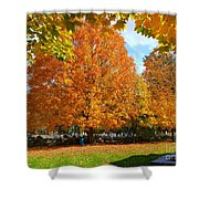 Beautiful New England Colors Shower Curtain