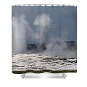 Beautiful Old Faithful Shower Curtain