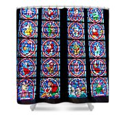 Beautiful Stained Glass At Notre Dame Cathedral Shower Curtain