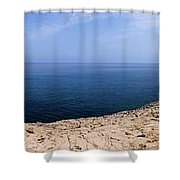 Beautiful View On Mediterranean Sea From Cape Gkreko In Cyprus Shower Curtain