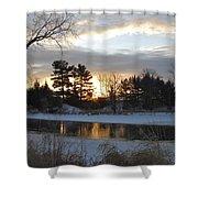 Beautiful Winter Dawn Shower Curtain