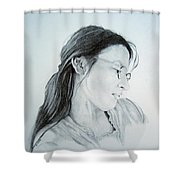 Beautiful Woman Shower Curtain