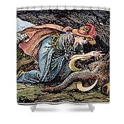 Beauty & The Beast, 1891 Shower Curtain