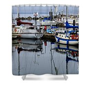 Beauty Of Boats Shower Curtain