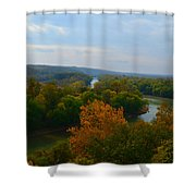 Beauty On The Bluffs Autumn Colors Shower Curtain