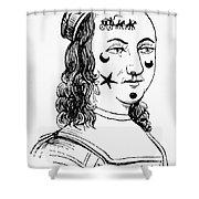 Beauty Spots, 17th Century Shower Curtain
