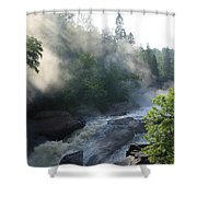 Beaver River Fog4 Shower Curtain