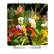 Bed Of Orchids Shower Curtain