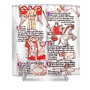 Bedes Constellations Shower Curtain by Science Source