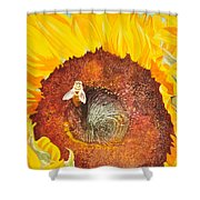 Bee And Sunflowers Shower Curtain