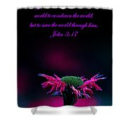 Bee Baum John 3 17 Shower Curtain