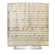 Beethoven Manuscript, 1806 Shower Curtain by Granger