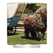 Begonia Horse Shower Curtain