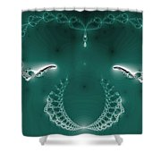 Bejeweled With Wings Shower Curtain