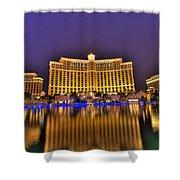 Belagio Las Vegas Shower Curtain by Nicholas  Grunas