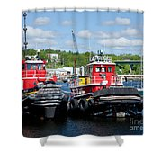 Belfast Tugboats Shower Curtain