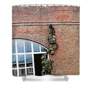 Belgian Paratroopers Rappelling Shower Curtain