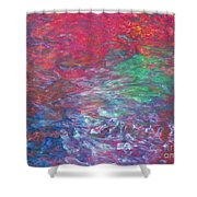 Belief In Cool Fire Shower Curtain