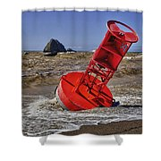 Bell Buoy Shower Curtain by Garry Gay