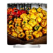 Bell Peppers Shower Curtain by Robert Bales