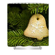 Bell Shape Short Bread Cookie Shower Curtain
