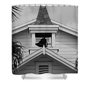 Bell Tower In Black And White Shower Curtain