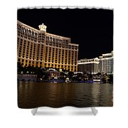 Bellagio And Ceasars Shower Curtain