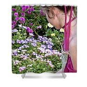 Belle In The Garden Shower Curtain