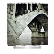 Below The Sinners Sail Shower Curtain