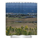 Bembridge Harbour And The Solent Shower Curtain