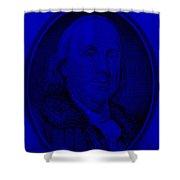 Ben Franklin In Blue Shower Curtain