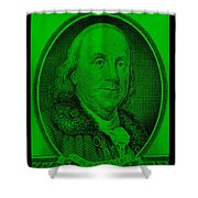 Ben Franklin In Green Shower Curtain
