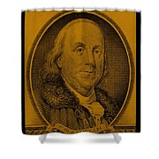Ben Franklin In Orange Shower Curtain