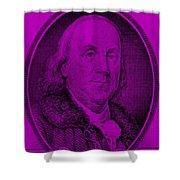 Ben Franklin In Purple Shower Curtain