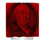 Ben Franklin In Red Shower Curtain