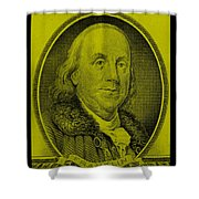 Ben Franklin In Yellow Shower Curtain