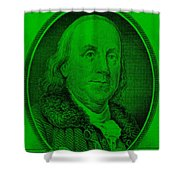 Ben Franklin Ingreen Shower Curtain