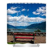 Bench With Panorama View Shower Curtain