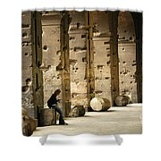 Beneath The Colosseum Shower Curtain