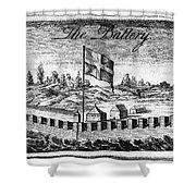 Benjamin Franklin: Battery Shower Curtain