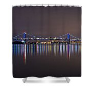 Benjamin Franklin Bridge Shower Curtain
